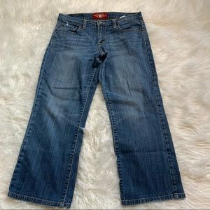 Lucky Brand Easy Rider Crop Denim Jeans Classic